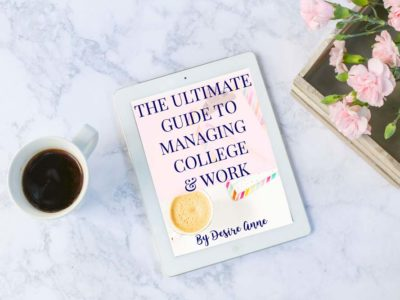 "Life can be overwhelming for students that work and go to #college at the same time. This post is full of tips to help you manage attending school while working. | Read and download the free ebook ""The Ultimate Guide to Managing College and Work"" (no signup required) 