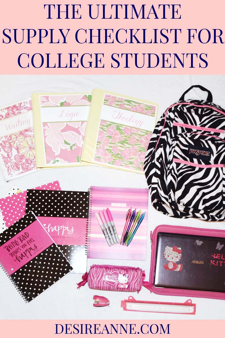 Ultimate College Supply List Printable | by Desire Anne, Alabama Fashion+Beauty+Music blogger | tags: university, school supplies