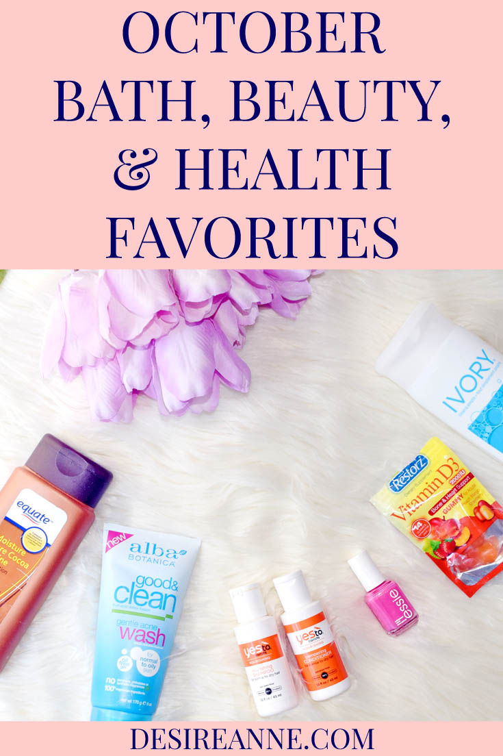 October Best Bath, Beauty, and Health Products | by Desire Anne, Alabama fashion+beauty blogger