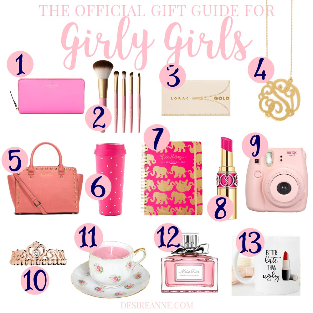 "Need gift ideas for a woman/teen/child that's a girly-girl? Check out ""The Official Girly-Girl Gift Guide"" for suggestions! 
