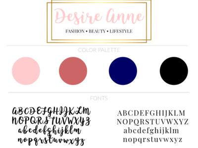 Welcome to my new blog! | by Desire Anne; Alabama fashion+beauty+lifestyle blogger | See my new branding and more | tags: blog branding, feminine Wordpress blog, blogging tips, brand board, feminine blog website logo