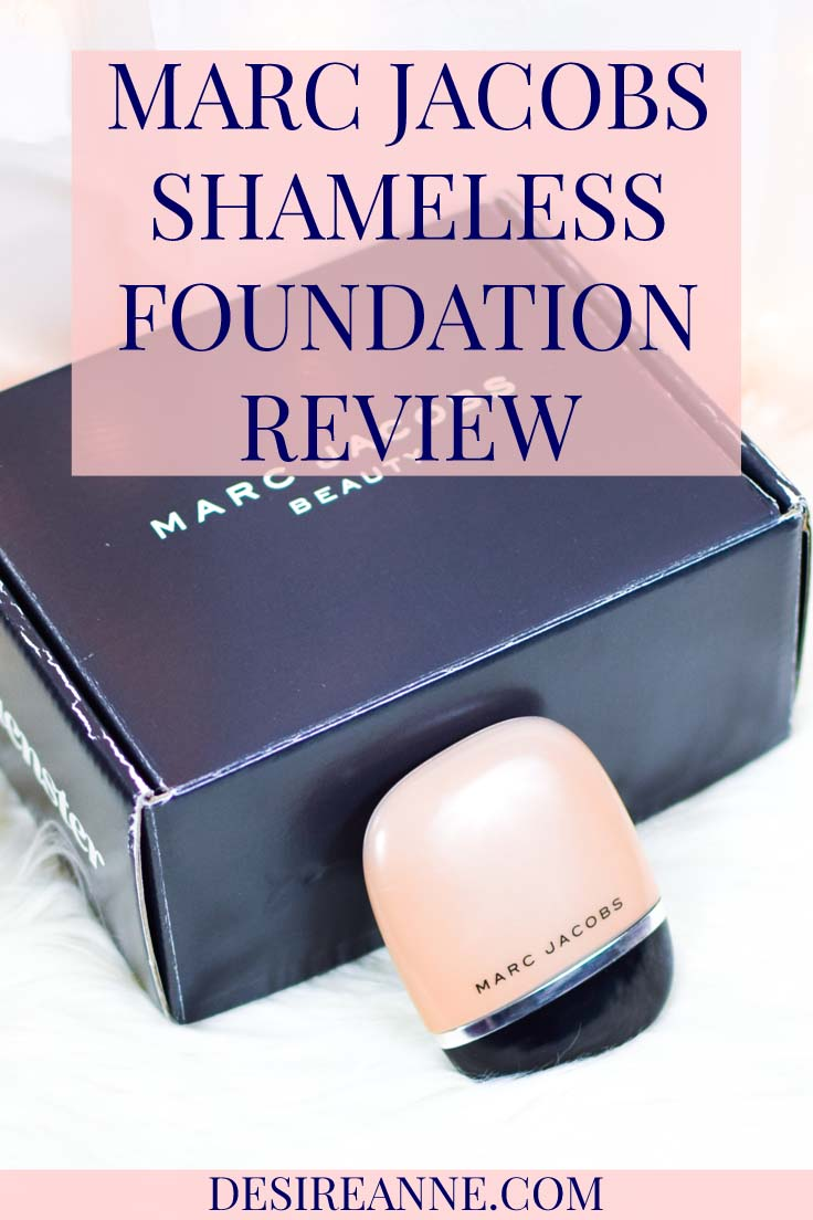 Shameless Foundation by Marc Jacobs Beauty Review/Try-On Shade Tan R460 // by Desire Anne, Alabama fashion+beauty #blogger // tags: makeup for beginners, medium coverage foundation, #makeup, makeup for black women, brown skin, dark skin, #beauty, Sephora, high end makeup