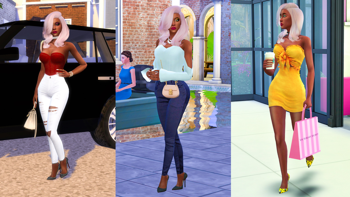 Sims 4 CC Custom Content Haul | Instagram Baddie Create-A-Sim Lookbook | Desire Anne Gaming