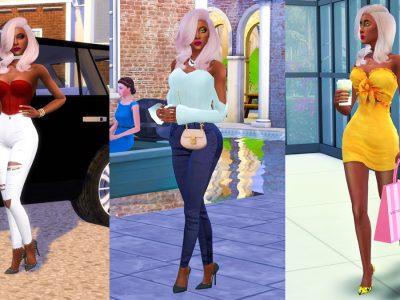 Sims 4 CC Custom Content Haul   Instagram Baddie Create-A-Sim Lookbook   Desire Anne Gaming