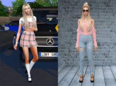 Sims 4 CC Custom Content Haul | Rich Girl Lookbook | Desire Anne Gaming