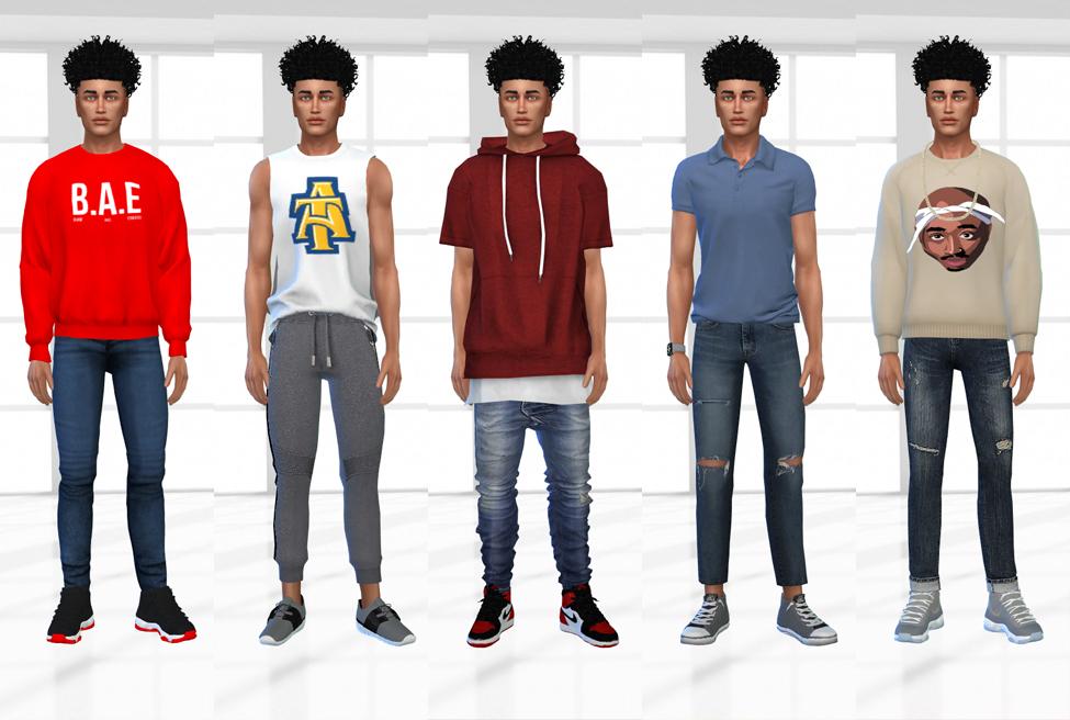 Sims 4 CC Custom Content Haul   HBCU Student Lookbook   Black Simmer CC   Desire Luxe Gaming