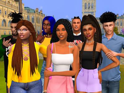 Sims 4 CC Custom Content Haul | HBCU Student Lookbook | Black Simmer CC | Desire Anne Gaming