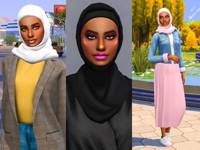Sims 4 CC Custom Content Haul | Hijabi University Student Lookbook | Desire Anne Gaming