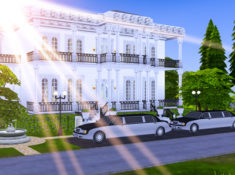 Sims 4 Upscale Restaurant and Wedding Venue | Southern Antebellum Manor Lot Download | Desire Anne Gaming